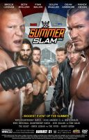 WWE SummerSlam 2016 Poster by Chirantha