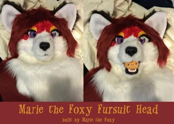 New Marie the Foxy Head by PudgeyRedFox