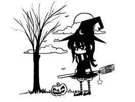 Witchy girl pchat by MonstreNoir
