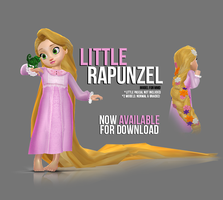 [MMD] Little Rapunzel - AVAILABLE by wintrydrop