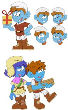[Smurfs] Jokey, Storm and Clumsy by dbkit