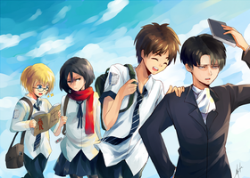 SNK- ATTACK ON HOMEWORK by h-yde