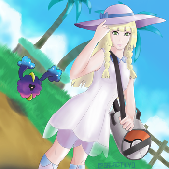 Lillie and Cosmog by galacticyo