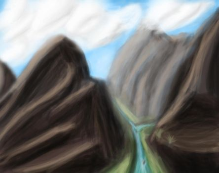 First Landscape SpeedPaint by Sudak