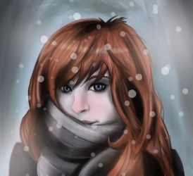 Scarf, Snow and a Red Nose by Ukanef