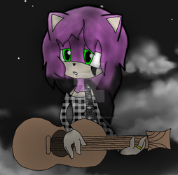 Playing a solo by QueenEmilythedemon