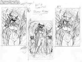 Knightingail Vol 2 COVER #002 layouts by nathanscomicart