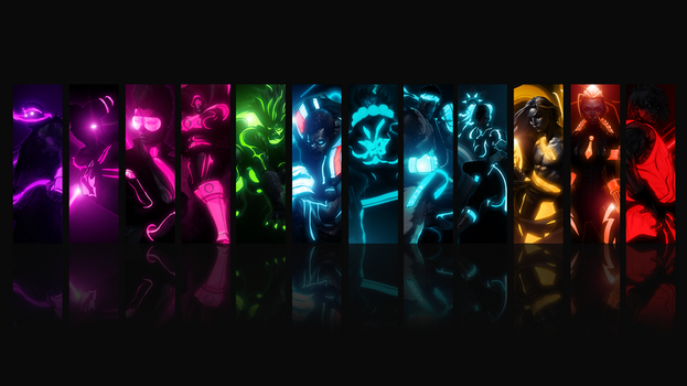Street Fighter Tron Style by alias99