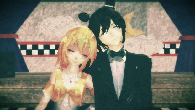 Old Photo of Chica And Freddy... [MMD X FNAF] by BodewigX