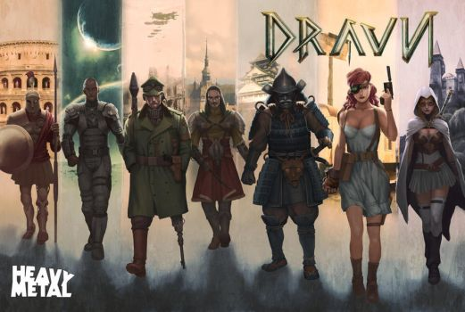 Heavy Metal Mag: Dravn Special Edition Cover by kunkka