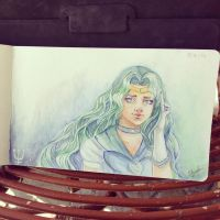 Day 3  - Sailor Neptune by Anhyra