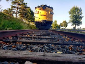 A train and the autumn leaves by Electra-Dots