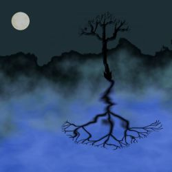 Tree in moonlight by xraynet