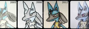 Redrawing Lucario:3 by Karvaferrari