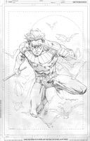 Nightwing pencils by aethibert