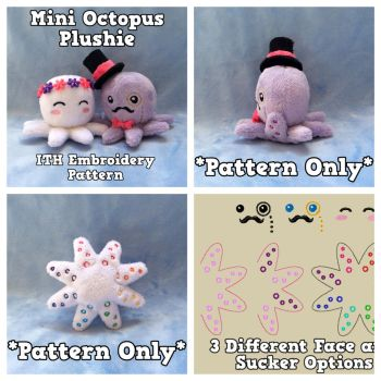 Mini Octopus ITH Embroidery Pattern by equinepalette