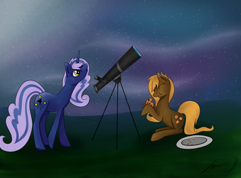 Night Sky and Cookie Chips [Request] by NovemberLilly