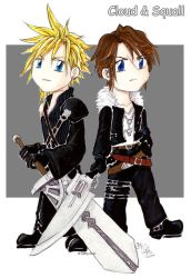 Cloud and Squall by cathy-chan