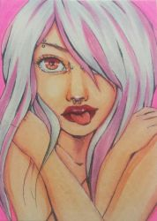 ACEO Pink Passion by RanChu-Obscure