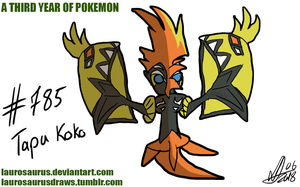 A third year of pokemon: #785 Tapu Koko