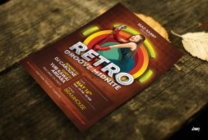 Retro Groove Club Flyer Psd Template by dennybusyet