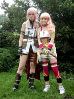 Lightning and Serah by ladylucienne