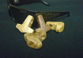 Rosewood and Birdseye Maple Hammers by Vikingjack