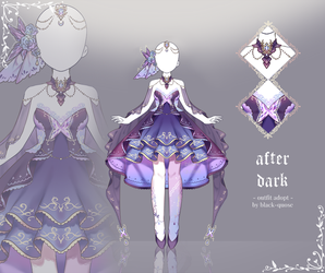 [closed] After Dark Outfit Adopt | Auction by Black-Quose