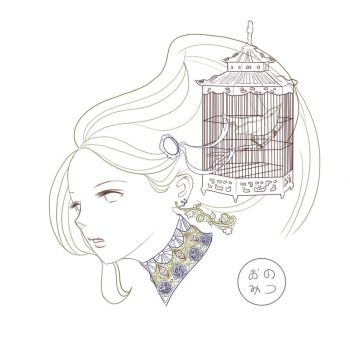 Woman and a birdcage by Notsomi