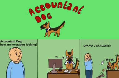 Accountant Dog by Secret170193
