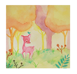 lonely fawn by cutecutemonster