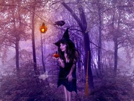 Angeles The Witch and Her Little Pumpkin by maiarcita