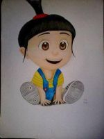 2014 Drawing - Agnes from Despicable Me :) by nielopena