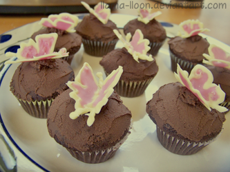 Butterfly Cupcakes by Llama-Lloon