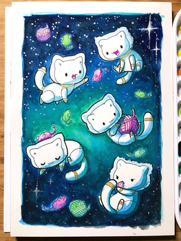 180307 Cats In Space by fablefire