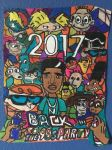 Nificent BackToThe 90s Party2017 Art Colorful Draw by NWeezyBlueStars23