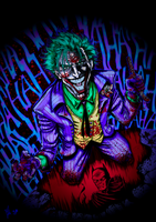 The Joker (Blacklight Colors) by HumanAbandonware