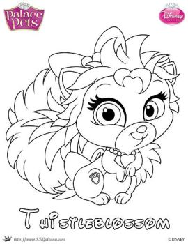 SKGaleana 5 0 Thistleblossom Princess Palace Pet Coloring Page By