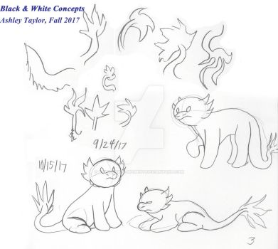 B + W Dragon Concepts by Paws-for-a-Moment