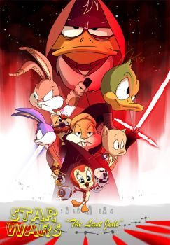 Looney Tunes Star Wars The Last Jedi by andrewk
