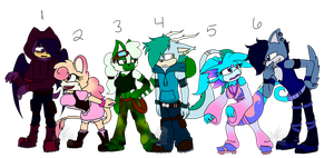 Sonic OC Adopts/Auction {CLOSED} by Liefgirl29