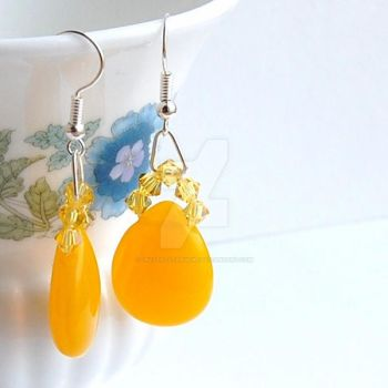 Lemon Drop Earrings by crystalstargems