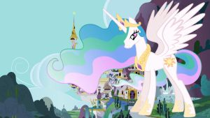 Princess Celestia's Growth Spell Incident by jerryakira79