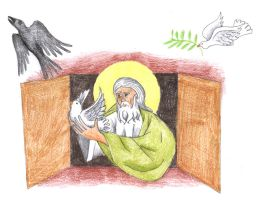 Genesis 8:6-12 (The Raven and the Dove) by Parastos