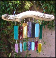 Wind Chime - Saguaro Sunsets by andromeda