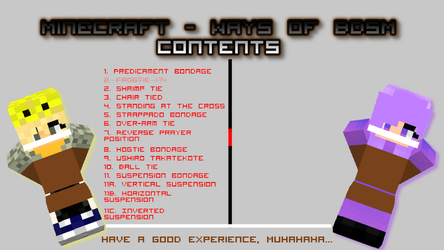 Minecraft - Ways of BDSM contents new by MCtiedWTF