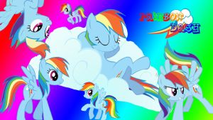 Rainbow Dash Collage by Busted-Love