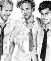 Kellan, Robert, and Taylor by kyo-kyo100