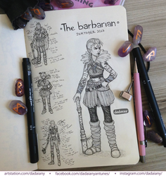 Day 04 - The Barbarian by dadaiany