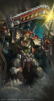 Warhammer 40K,Orc Stormtrooper by henning